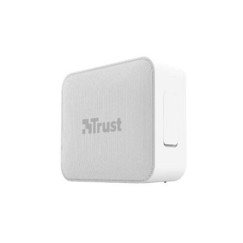 Portable Speaker|TRUST|Portable/Waterproof/Wireless|1xMicro-USB|1xStereo jack 3.5mm|1xSD Card Slot|Bluetooth|White|23779
