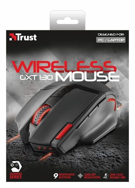 MOUSE USB OPTICAL WRL GXT 130/20687 TRUST