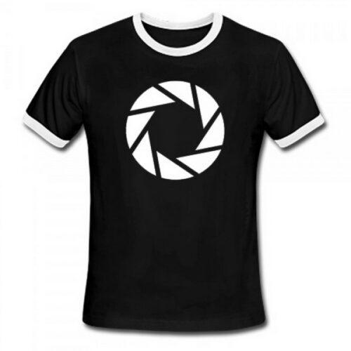 T-Shirt Portal 2 – Aperture Symbol, Black Size M