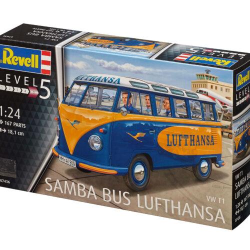 Revell plastic model VW T1 SAMBA BUS LUFTHANSA 1:24