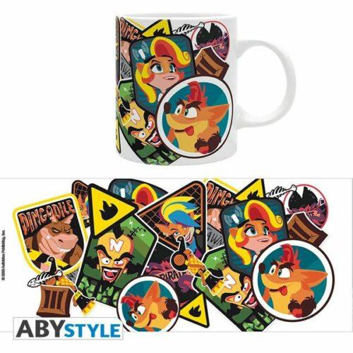 Abysse Crash Bandicoot Sticker Crash 320ml Mug