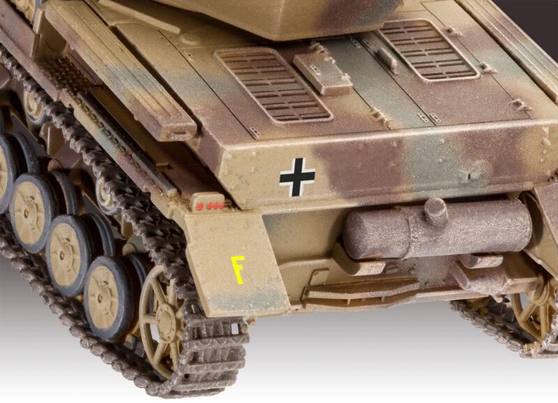 Revell plastic model Flakpanzer IV Wirbelwind (2 cm Flak 38) 1:72