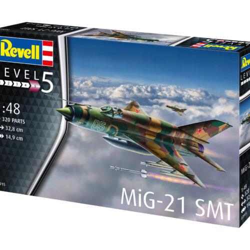 Revell plastic model MiG-21 SMT 1:48