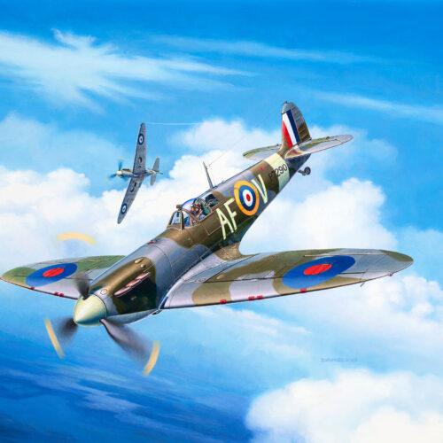 Revell plastic model Spitfire Mk.IIa 1:72