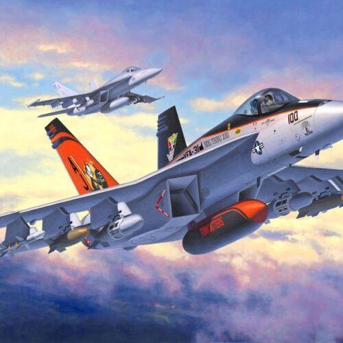 Revell plastic model F/A-18E Super Hornet 1:144