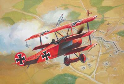 Revell plastic model Fokker DR.1  1:72