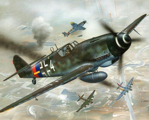 Revell plastic model Messerschmitt Bf 109 G-10  1:72