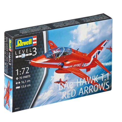 Revell plastic model BAe HAWK T.1 RED ARROWS 1:72