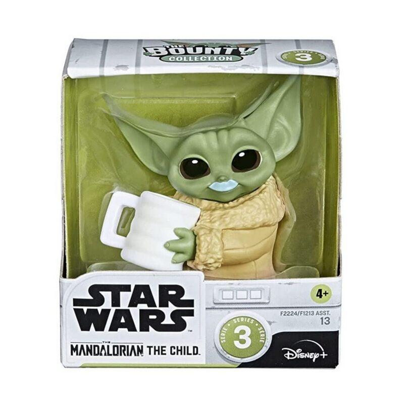 Star Wars: The Mandalorian – The Child (Baby Yoda) with Milk Mustache Mini Figure, 5cm