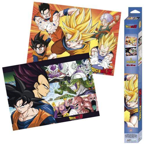 Posters 2-Pack: Dragon Ball Z – Saiyans, 52x38cm