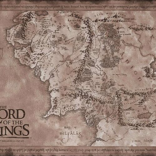Posters 2-Pack: Lord of the Rings – Middle-Earth Map & Eye of Sauron, 52x38cm