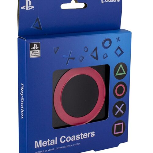 PlayStation – Buttons Metal Coasters 4-Pack