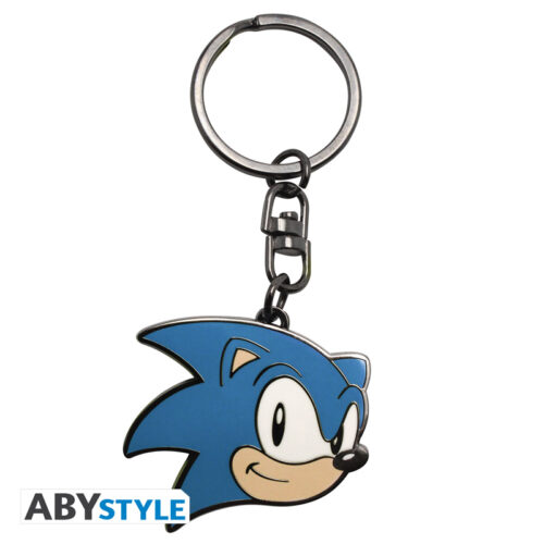 Sonic The Hedgehog – Sonic Face Metal Keychain