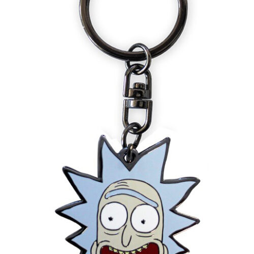 Rick and Morty – Rick Face Metal Keychain