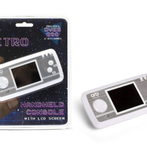 ORB Retro Handheld Console with LCD Screen incl. Over 200 8-Bit Games