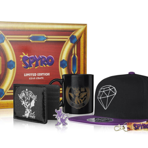 EXG Limited Gear Crate: Spyro The Dragon – Cap, Lanyard, Pin, Wallet and Mug