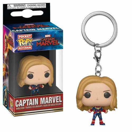 POP! Pocket Keychain: Marvel Captain Marvel – Captain Marvel Bobble-Head