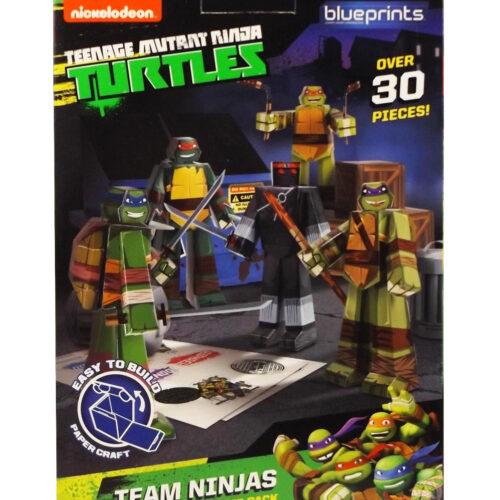 Teenage Mutant Ninja Turtles – Team Ninjas Turtles Pack Blueprint Paper Craft, 30+ Pieces