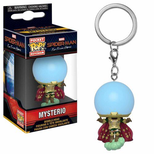 POP! Pocket Keychain: Marvel Spider-Man Far From Home – Mysterio Bobble-Head
