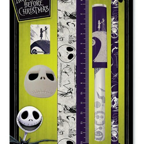 Stationery Set Nightmare Before Christmas – Pencil, Sharpener, Eraser, Ruler and Pen