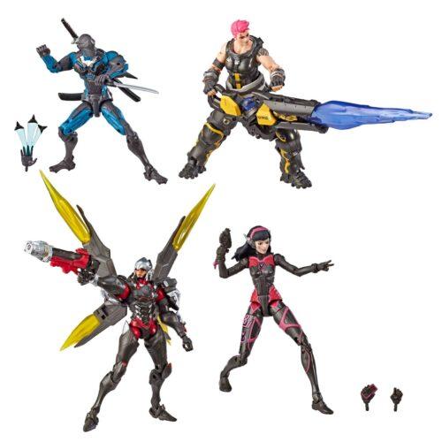 Overwatch: Ultimates 4-Pack – Genji, Zarya, Pharah and D.Va Action Figures, 15cm