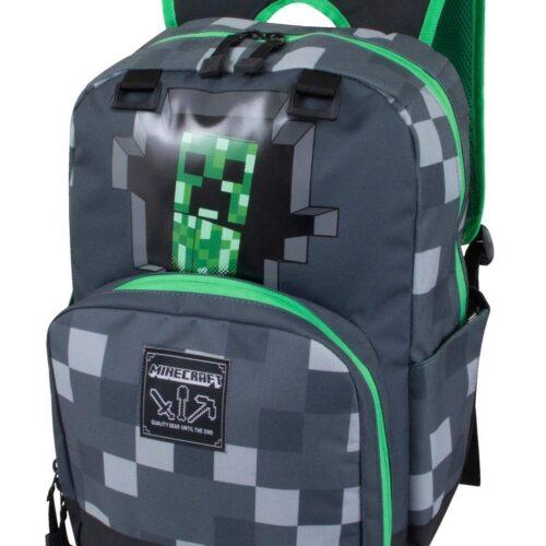 Minecraft – Creepy Creeper Backpack, Grey