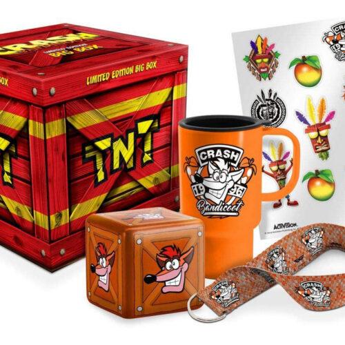 EXG Limited Big Box: Crash Bandicoot – TNT Mug, Lanyard, Key Cover, Stickers and Stress Ball