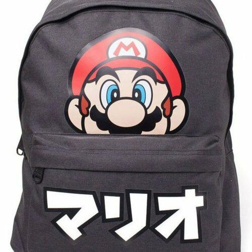 Super Mario – Japanese Logo Backpack, Black