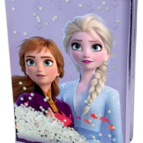 Notebook Disney Frozen 2 – Snow Sparkles, Hardcover with Confetti A5