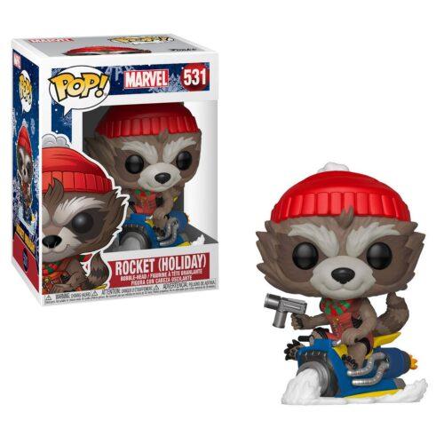 POP! Marvel: Holiday – Rocket on Sled Vinyl Bobble-Head