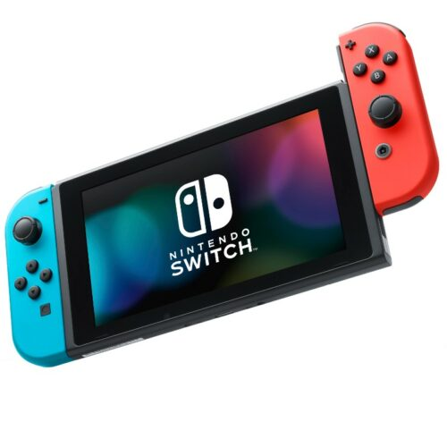 Nintendo Switch with Neon Red and Blue Joy-Con – Updated Version