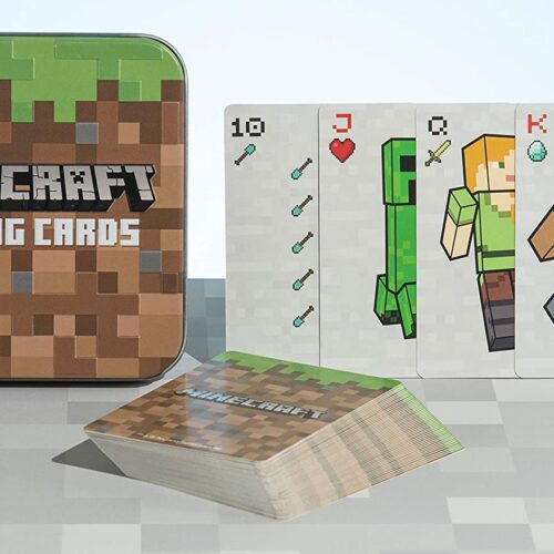 Playing Cards in Metal Case – Minecraft
