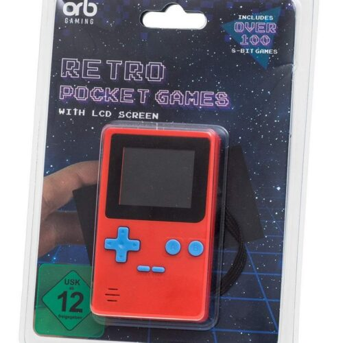 ORB Retro Handheld Console with LCD Screen incl. Over 150 8-Bit Games