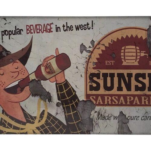 Metal Plaque: Fallout – Sunset Sarsaparilla