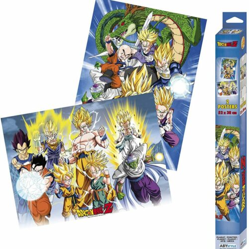 Posters 2-Pack: Dragon Ball Z – Groups, 52x38cm