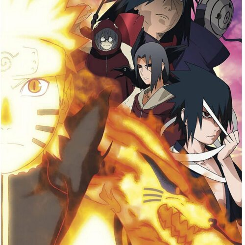 Posters 2-Pack: Naruto Shippuden – Groups, 52x38cm