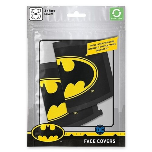 Face Mask 2-Pack: DC Comics – Batman Logo