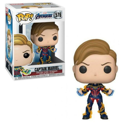 POP! Marvel Avengers: Endgame – Captain Marvel (New Hair) Vinyl Bobble-Head