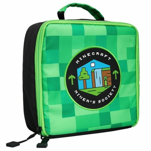Minecraft – Miners Society Lunch Bag, Green