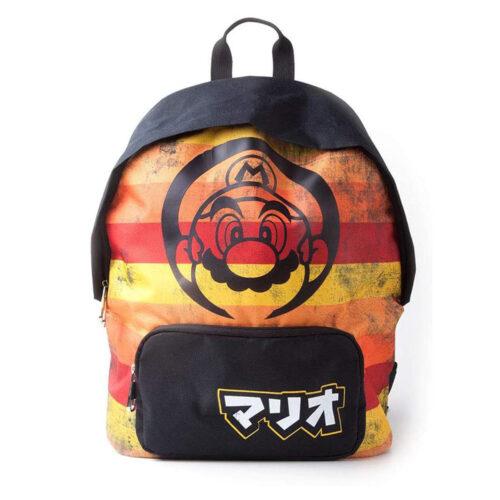 Super Mario – Retro Striped Backpack, Kids