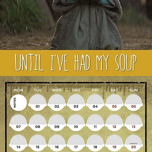 2021 Calendar – Star Wars: The Mandalorian (Baby Yoda), 30x30cm