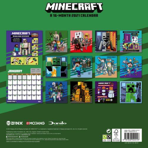 2021 Calendar – Minecraft, 30x30cm