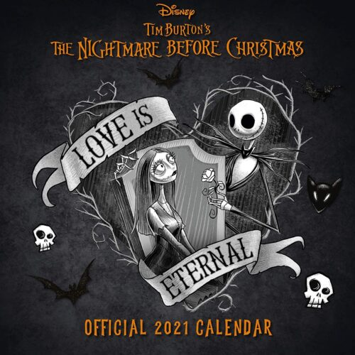 2021 Calendar – Nightmare Before Christmas, 30x30cm