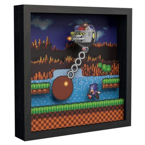 Pixel Frames: SEGA – Sonic Wrecking Ball, 23x23cm