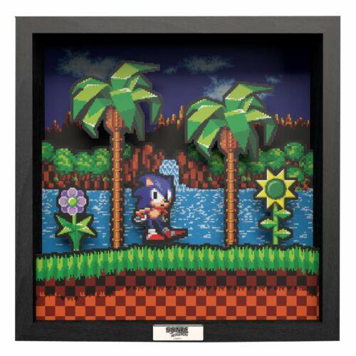 Pixel Frames: SEGA – Sonic Idle Pose, 23x23cm