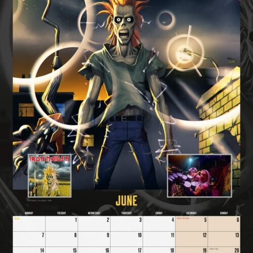2021 Calendar – Iron Maiden, 30x40cm