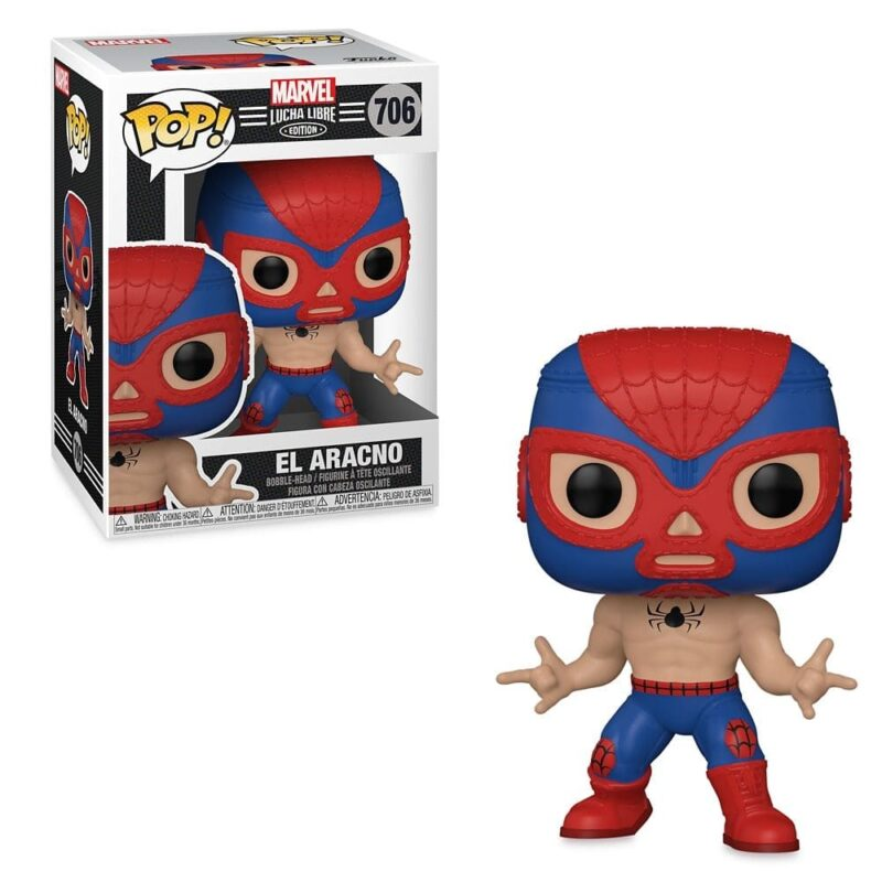 POP! Marvel: Lucha Libre Edition – El Aracno Bobble-Head Vinyl Figure