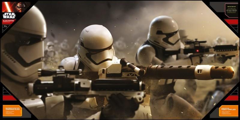 Star Wars: Episode 7 – Battle Stormtroopers Glass Poster, 60cm x 30cm