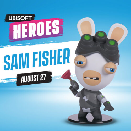 Ubi Collectibles: Heroes Collection – Rabbids Sam Fisher Chibi Figure, 10cm