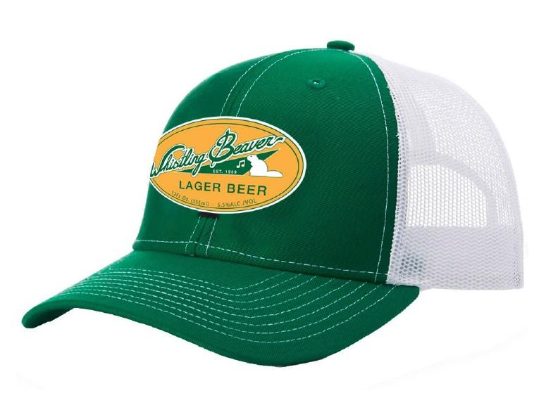 Baseball Cap: Far Cry 5 – Whistling Beaver, White/Green with Mesh Back